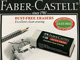 Premium Faber-Castell DUST-FREE Pencil Eraser, LARGE SIZE, Extra Soft For Effective & Clean