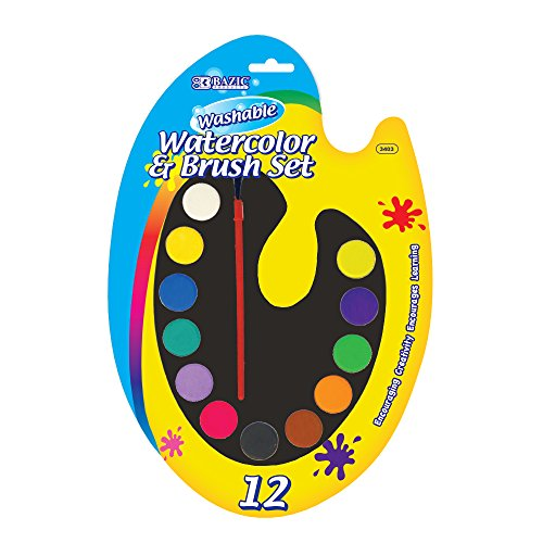 BAZIC 12 Count Watercolor with Brush (3403-24)