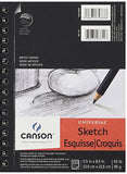 "Canson Universal Sketch Paper Pad 5.5 x 8.5 "": 100 Sheets (Pack of 8)"