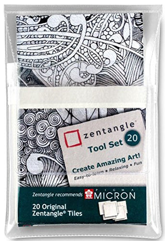 Zentangle 89 x 89mm Original Zentangle Tiles (pack Of 20)