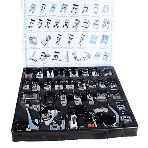 Sewing Machine Foot Parts 32pcs/Set Sewing Tools & Accessory Mini Sewing Machine Braiding Blind