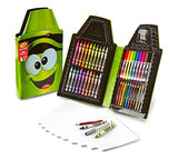 Crayola Tip Tool Kit, Electric Lime, 50 Art Tools and Paper, Tip Character Case, Makes a Great