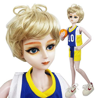 EVA BJD Full Set Basketball Player 1/3 BJD Doll 22inch Male Boy Doll Ball Jointed Dolls + Makeup + Clothes + Pants + Shoes + Wigs + Doll Accessories