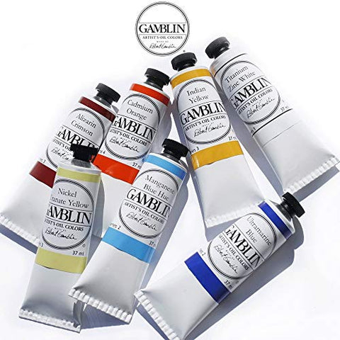 Gamblin Artist Oil Color Paint - Professional Curated Collection of 24 Assorted Colors - 37ml Tubes