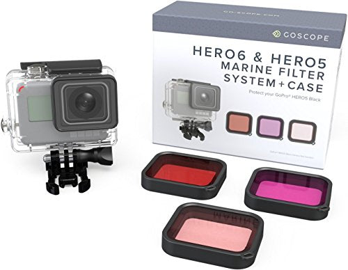 GoScope HERO6 Red Filter (Fits: GOPRO HERO/HERO5/HERO6) PREMIUM LASER CUT CONTRAST ENHANCEMENT