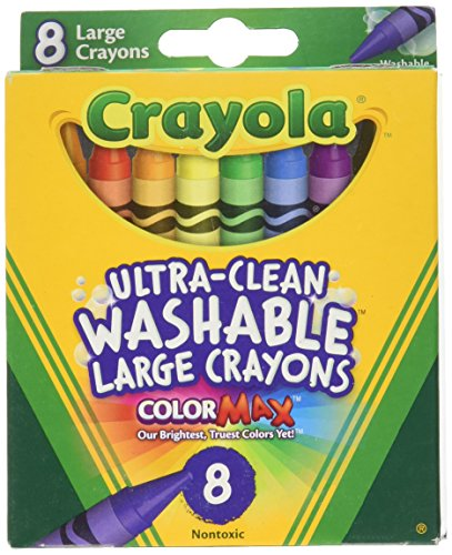 8 Count Crayola Ultra Clean Washable Large Crayons Color Max (Pack of 3)