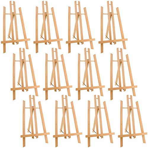 "US Art Supply 14"" Tall Medium Tabletop Display A-Frame Easel (12-Easels)"