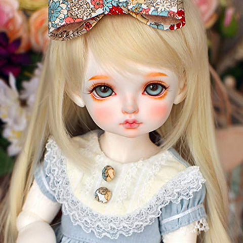 BJD Doll 1/4 40cm 15.7 inch Moveable Joints SD Dolls Action Full Set Figure + Clothes + Shoes + Wig + Makeup Creative Gift for Kids Boys Girls