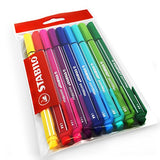 Stabilo PointMax Nylon Tip Fineliner - 0.8mm - Wallet of 9 - Assorted Colours