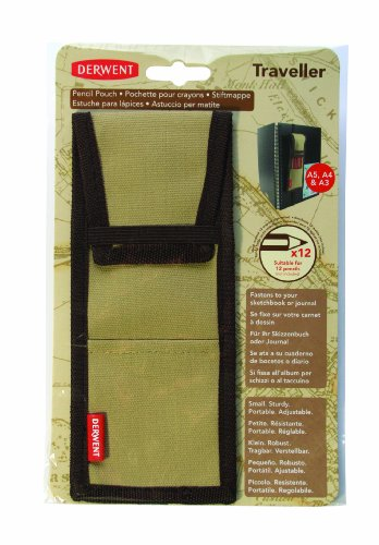 Derwent Traveller Canvas Pencil Pouch / Case / Holder, 12 Pencil Capacity, for Sketchbooks