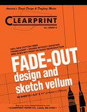 Clearprint 1000H Design Vellum Pad with Printed Fade-Out 8x8 Grid, 16 lb., 100% Cotton, 8-1/2 x 11 Inches, 50 Sheets, Translucent White (10002410)