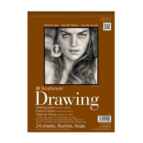 "Strathmore 400 Series Drawing, Medium Surface, 12""x18"" Wire Bound, 24 Sheets"