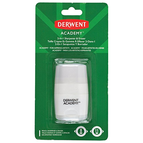 Derwent Academy Pencil Sharpener & Eraser, 2-In-1 (98230)