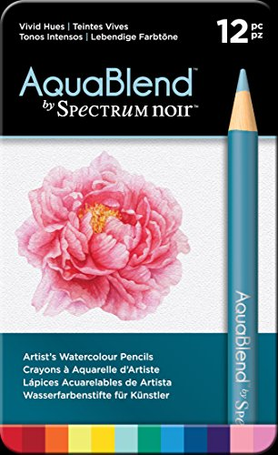 Spectrum Noir - AquaBlend Arts & Crafts Pencil Set - Vivid Hues (12pk)