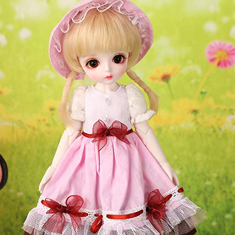 MEESock Lovely Exquisite BJD Dolls 1/6 SD Doll 10 Inch Mini Ball Jointed Doll DIY Toys with Full Set Clothes Shoes Wig Makeup Best Gift