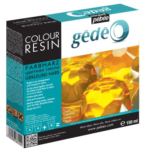 Pebeo Gedeo Color Resin, 150ml, Topaz