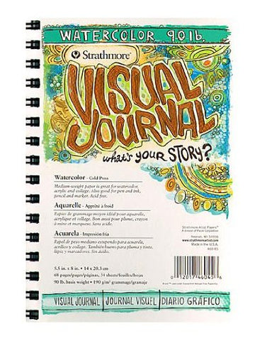 Strathmore Visual Watercolor Journals 90 lb. 5 1/2 in. x 8 in. 34 sheets [PACK OF 3 ]