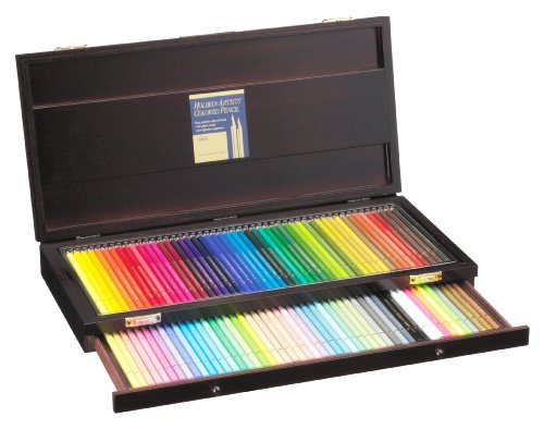 Holbein Artist Colored Pencil 100 Colors Set wooden box