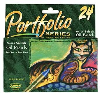 Water Soluble Oil Pastels 24 Ct Portfolio Series By Crayola Llc