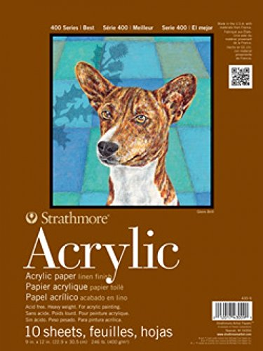 Strathmore STR-430-18 10 Sheet 400 Series Acrylic Paper Pad, 18 by 24""