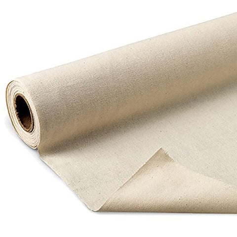 "LA Linen Cotton Duck Canvas Cloth, 10oz. Natural Color, 60"" Wide, Sold by The Yard."