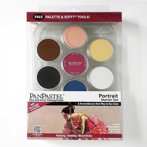 Pan Pastel Ultra Soft Artists' Painting Pastels Portrait Colours Set by Colorfin