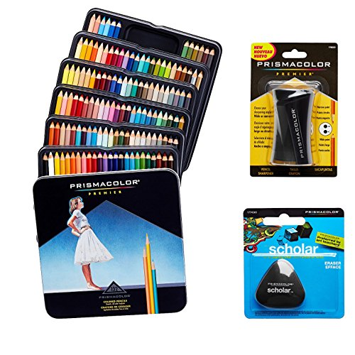 Prismacolor Quality Art Set - Premier Colored Pencils 132 Pack, Premier Pencil Sharpener 1 Pack and