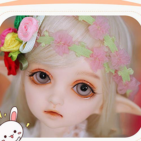 GHDE&MD BJD Doll 1/4 SD Dolls 15 Inch Ball Jointed Doll DIY Toys with Full Set Clothes Shoes Wig Makeup Best Gift for Girls-Flowne,Normal Skin