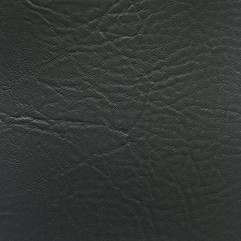 "Vinyl Fabric Faux Leather Pleather Upholstery 54"" Wide by The Yard (Black)"