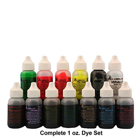 Alumilite Dyes 13 color set