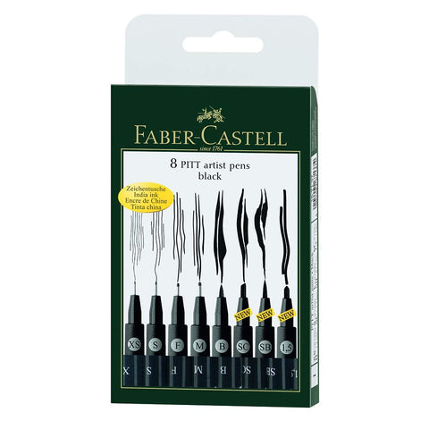Faber Castell FC167137 Wallet Pitt Pen Nibs Art Set, Assorted
