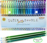 Super Doodle 160 Glitter Gel Pen Coloring Set- Includes 80 Unique Color Glitter Gel Pens and 80