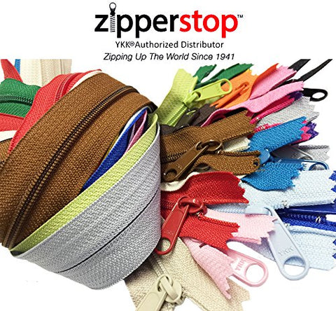Zipperstop Wholesale YKK® 24 Inches Purse Zippers Extra Long Handbag Pull Assorted Colors 19