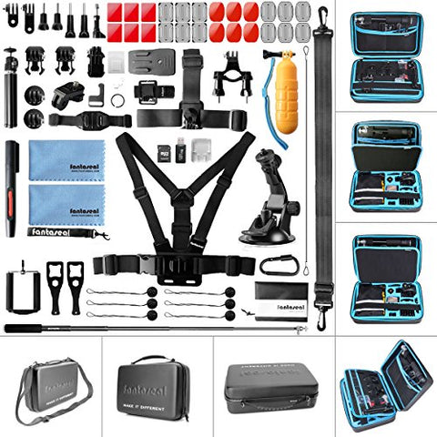 Ultimate 70in1 Combo for GoPro Accessories Kit Pack GoPro Mounts Bundle Set Starter Suit w/Hi