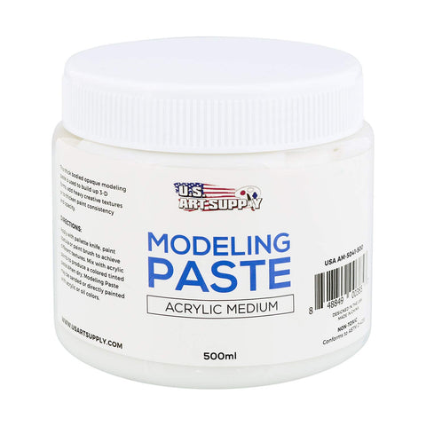 U.S. Art Supply Modeling Paste Acrylic Medium, 500ml Tub