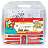 Faber-Castell Color and Learn Alphabet Flash Cards - ABC Flash Card and Coloring Set for
