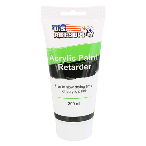 U.S. Art Supply Acrylic Retarder Acrylic Medium, 200ml Tube - Mixed with Color Gives You Longer Working Times