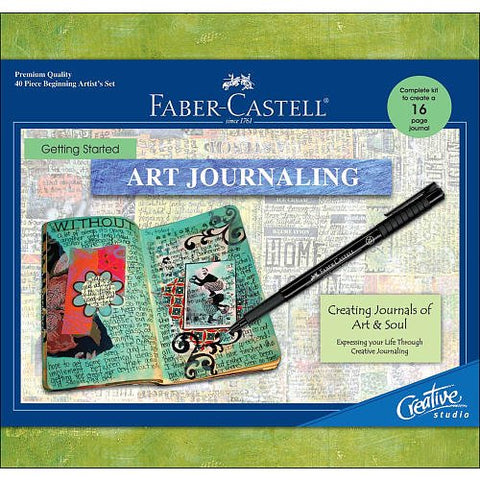 Faber-Castell - Creative Studio Getting Started Art Journaling Kit - Premium Kids Crafts