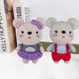 "Kailuoze Plush Stuffed Animal Mouse 2PCS 12"" Unique Soft Baby Doll Toy Cute Attractive Face Cuddling and Collectible Unmatched Quality Huggable Perfect Gift & Present Idea for Kids"