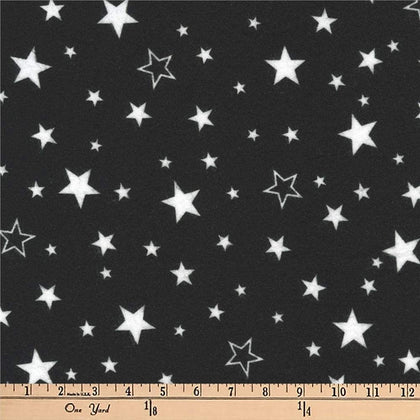 Robert Kaufman Kaufman Cozy Cotton Flannel Stars Black Fabric By The Yard