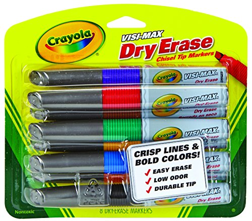 Crayola Dry Erase Markers (8 Count), Visimax BL