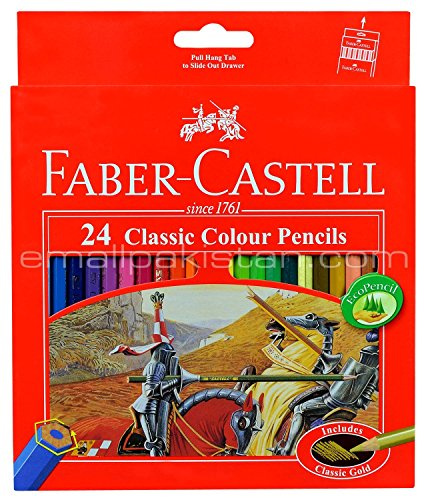 Colored Pencil Faber Castell 24 Color Best Colored Pencil for Adult Coloring Book with Free Premium
