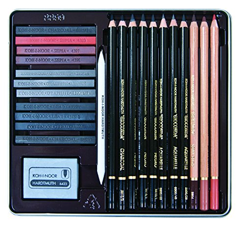 Koh-I-Noor Gioconda 24-Piece Artist Set, Packed in Tin and Blister Carded (8899.OT)