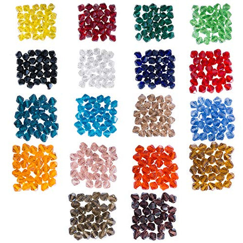 Lot 540pcs Glass Bicone Beads - LONGWIN Wholesale 8mm Bicone Shaped Crystal Faceted Beads Jewelry