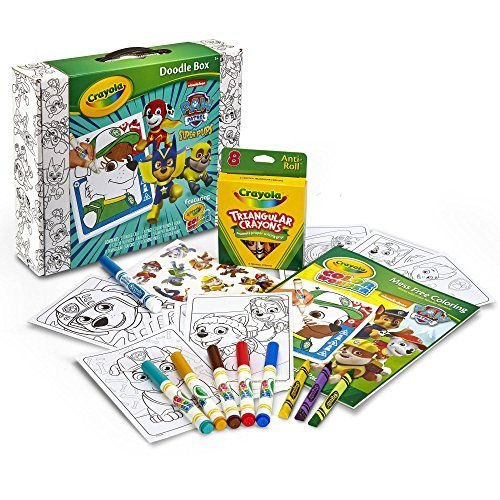 Crayola Paw Patrol Superpups Doodle Box, Featuring Color Wonder Mess-Free Coloring Pages; Great
