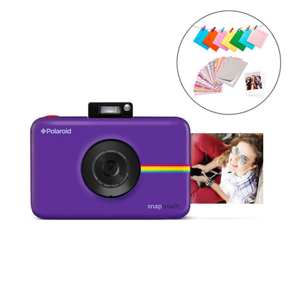 Polaroid Snap Touch Instant Digital Camera (Purple) Protective Bundle with 20 Sheets Zink Paper