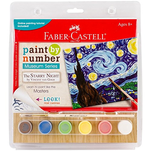"The Starry Night Numbers Kit with 6"" x 8"" Canvas Board, 6 Acrylic Paints & More"