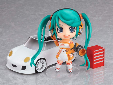 Lupovin Q Ver 10cm 3.9''Anime Action Figure Vocaloid Nendoroid Series Hatsune Miku Racing Girl 109# Ver Model Collection Doll
