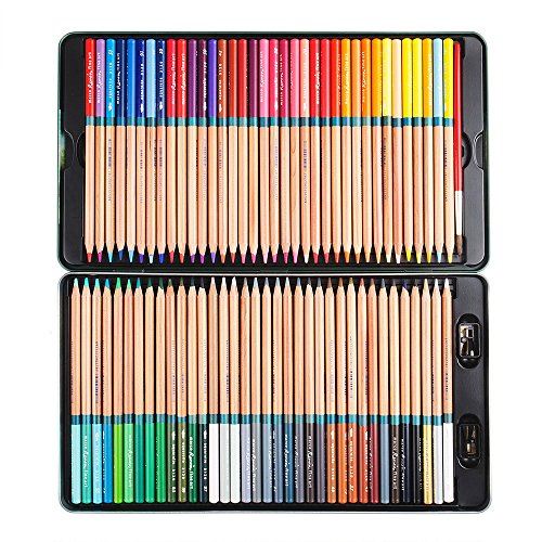 Marco Renoir Fine 72 Colors Water Soluble Drawing Pencil Set Non-toxic Tin Wooden Painting Artist