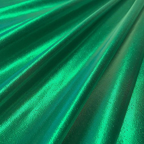 Tissue Lame Shiny Fabric for Craft Decoration Costume Design 44 FWD (Kelly Green)